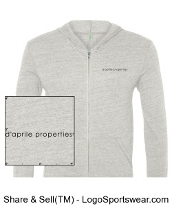 Alternative Unisex Long Sleeve Zip-Up  Design Zoom